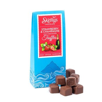 Skelligs strawberry & Champagne truffles