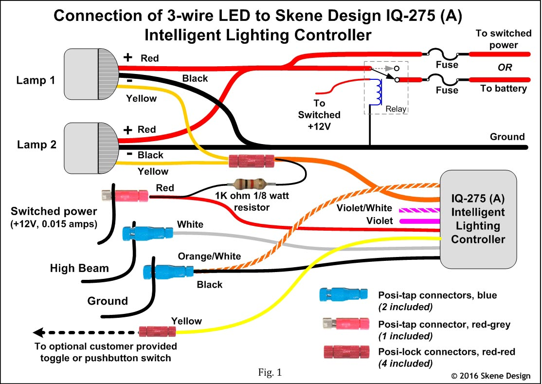 wiring diagram for spotlights 4 wire cdi chinese atv 3 led free engine image user manual