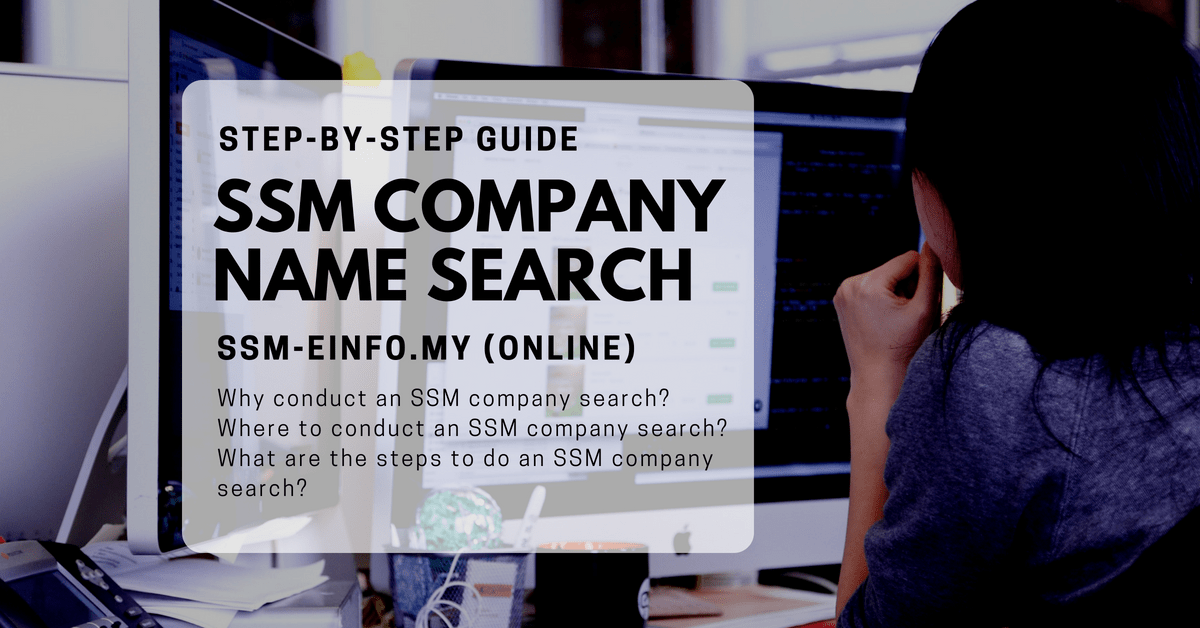 SSM Company Name Search in Malaysia (Step-by-step with Pictures)