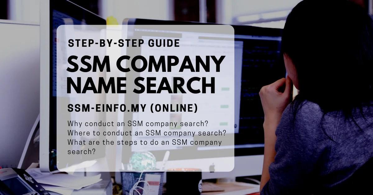 SSM Company Name Search Malaysia