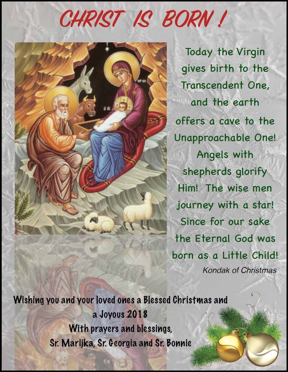 Christmas Greetings From Ukrainian Catholic Eparchy Of Saskatoon BBESI And UCREC