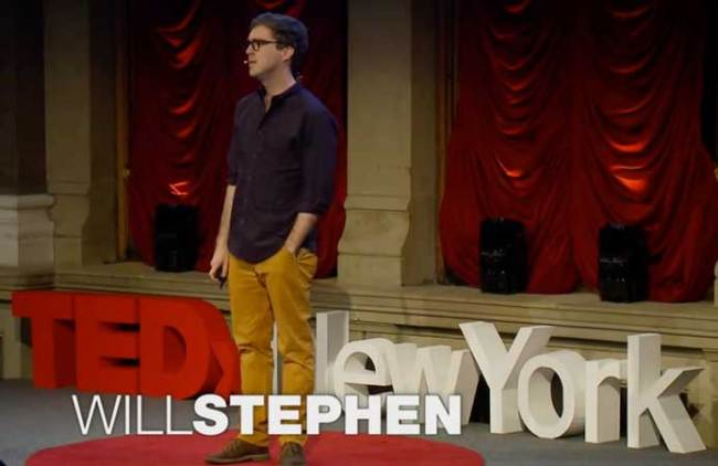 content free TEDx talk that is actually satire of TEDx