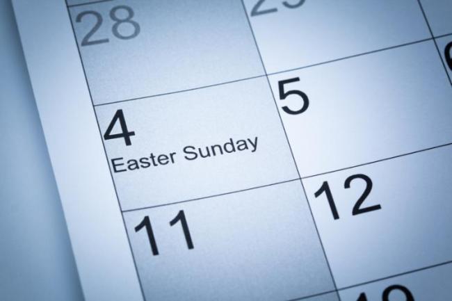 easter date calendar
