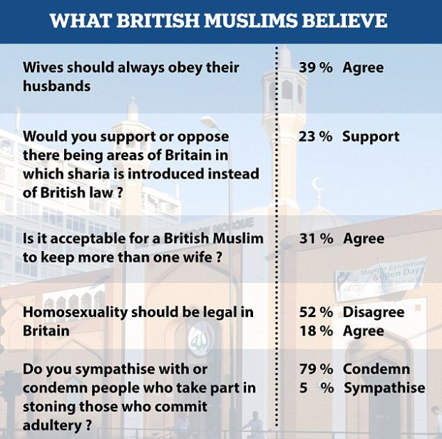 British muslims homosexuality statistics