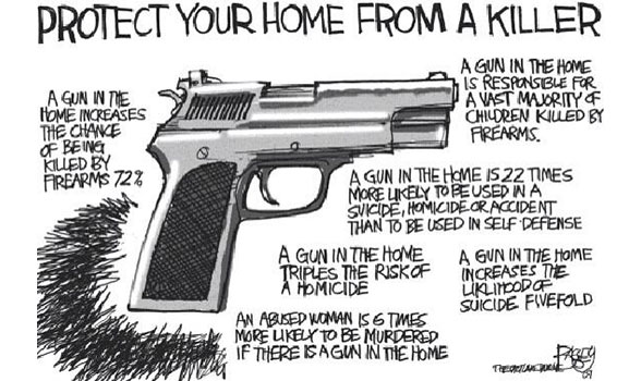 Why is having a gun in your home a really really bad idea?