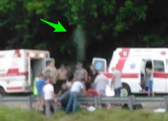 Claim: Photo of a Floating Spirit captured after fatal crash