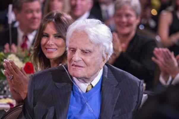 Billy Graham is pictured during a celebration for his 95th birthday in Asheville, North Carolina, in this November 7, 2013