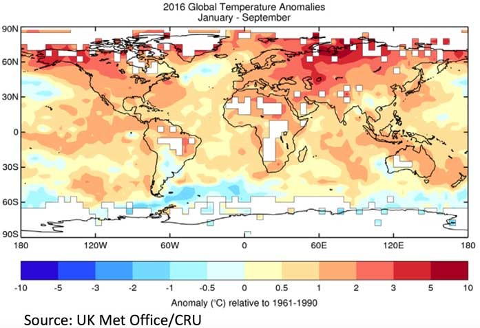 WMO provisional Statement on the Status of the Global Climate in 2016