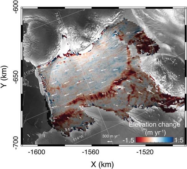 Dotson ice shelf thinning