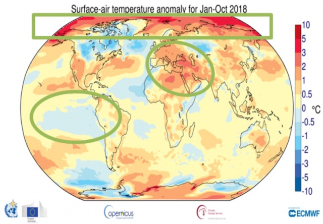 #climate #warming 2018 Oct