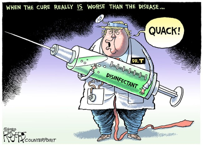 wingnut in chief plays doctor
