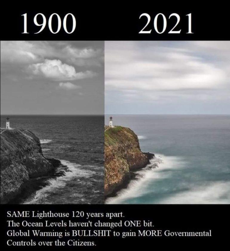 dubious sea level claim