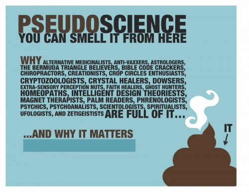 Pseudoscience and science – bullshit vs  rational thought
