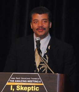 Neil deGrasse Tyson at The Amazing Meeting 6, 2008. Wikipedia Commons license.