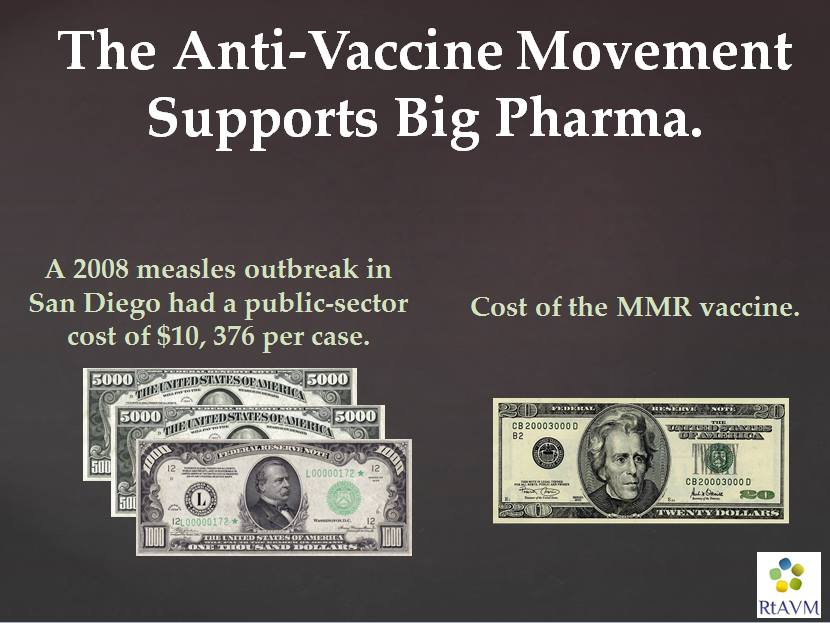 cost of measles vs cost of mmr vaccine anti vaccine cult uses hitler's big lie laughable strategy