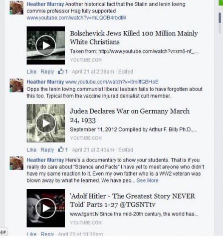 Racist Facebook troll and white supremacist.