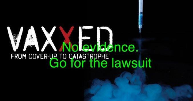 Vaxxed threatens Fiona O'Leary