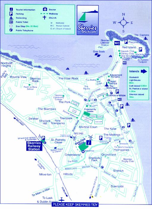 print map of skerries