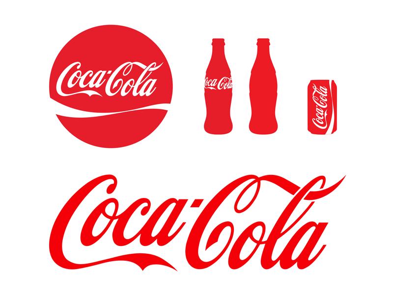 coca cola logo bottle