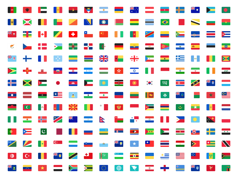 country flags kit sketch