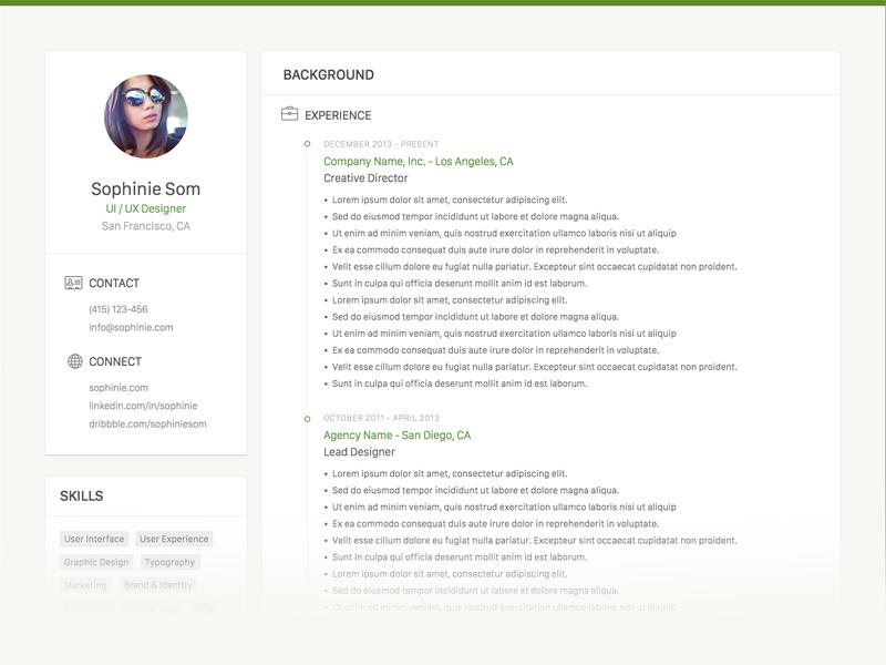 Clean Resume Template Sketch Freebie Download Free