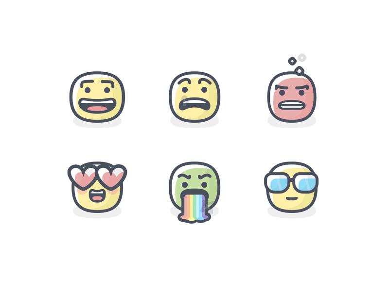 6 emojis sketch freebie