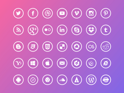 Free Outline Social Icons Sketch Freebie Download Free