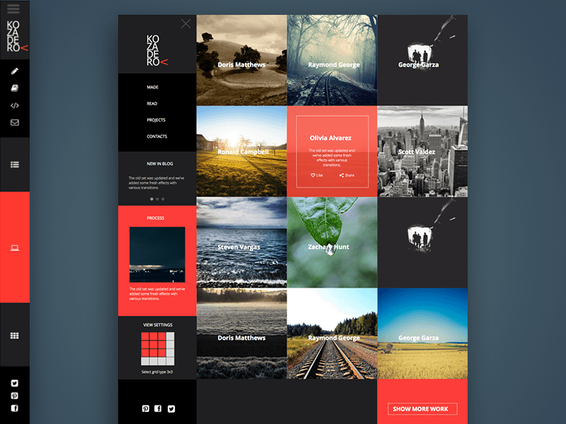 Site Portfolio Concept Sketch Freebie Download Free Resource For Sketch Sketch App Sources