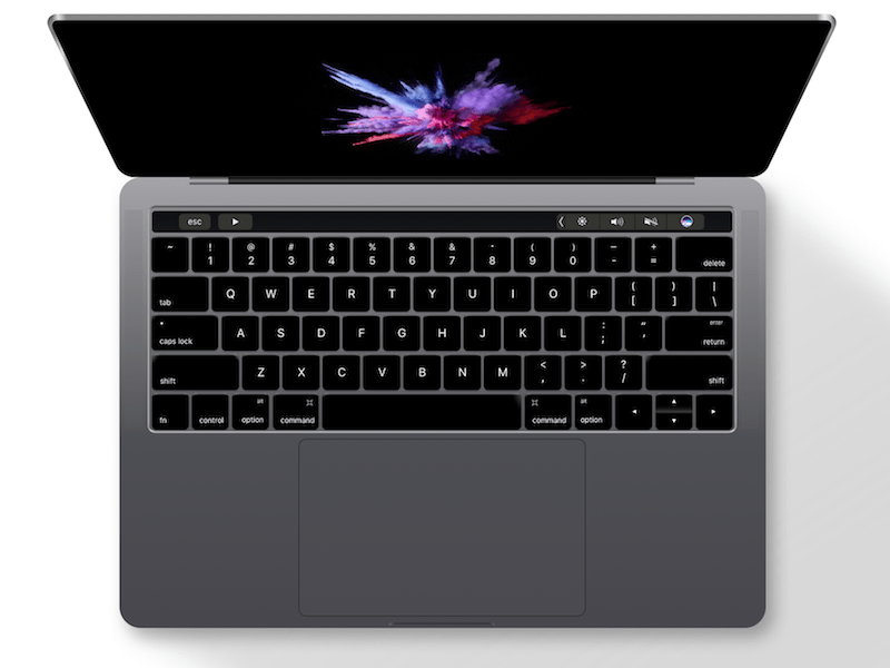 MacBook Pro 2016 With Touch Bar Sketch Freebie   Download Free Resource For  Sketch   Sketch