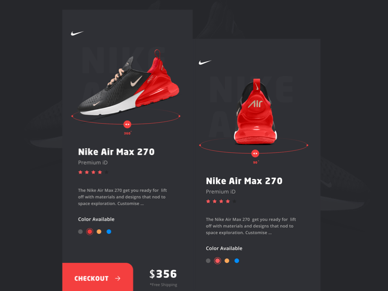 Nike Product Screen Concept Sketch freebie - Download free resource for Sketch - Sketch App Sources