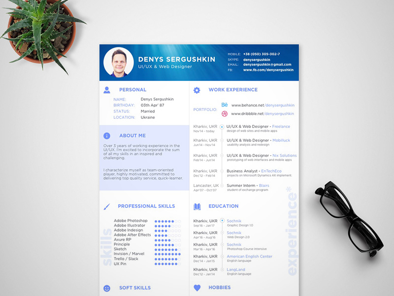 CV Template Sketch freebie  Download free resource for