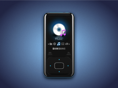 Samsung Yp Z3 Music Player Sketch Freebie Download Free