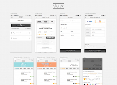 Free Shopping App Template: Storex Sketch freebie