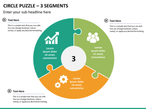 Circle Puzzle PowerPoint Template | SketchBubble