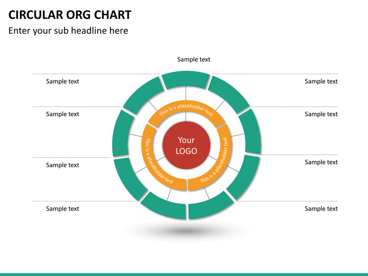 Circular ORG Chart PowerPoint Template SketchBubble