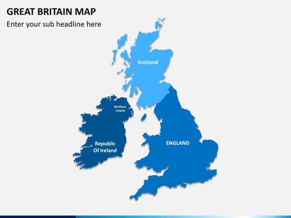 Great Britain UK Map PowerPoint SketchBubble