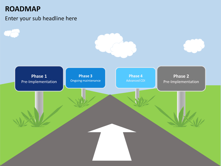 roadmap template ppt