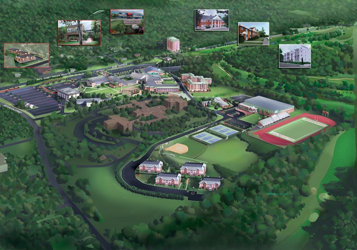 Map High Point University High Point Nc