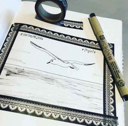 Inktober - flight