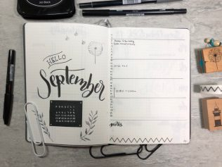 Bullet Journal Setup - Monthly Log