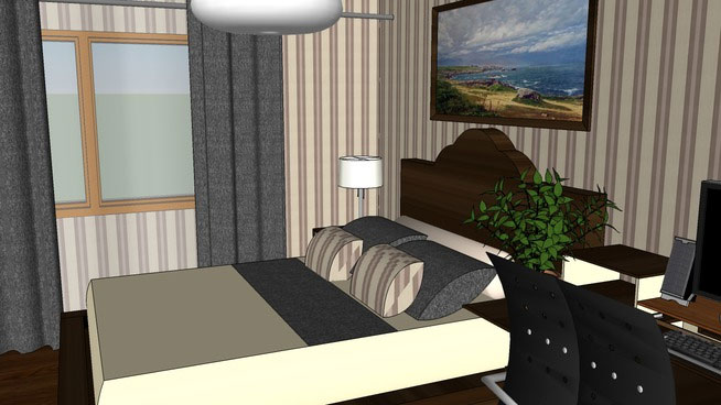 Sketchup Components 3D Warehouse  Bedroom  Sketchup 3D