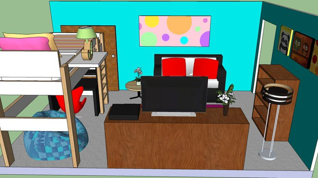 kitchen chairs round table sets sketchup components 3d warehouse - bedroom | sketchup‬ ...