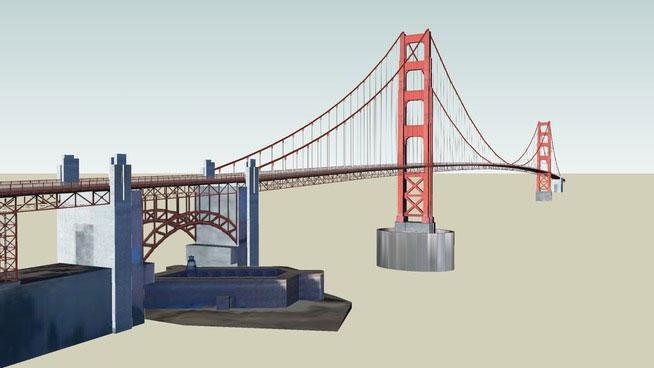Sketchup Components 3D Warehouse  Golden Gate Bridge