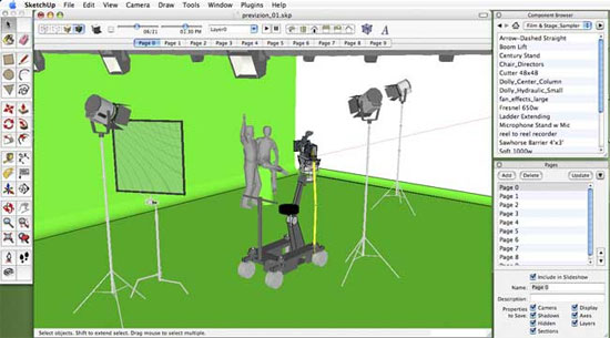 How to make scenes and animations easily through Sketchup