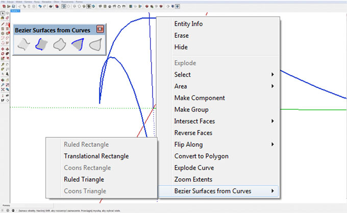 Bezier Surfaces from Curves – The newest sketchup extension