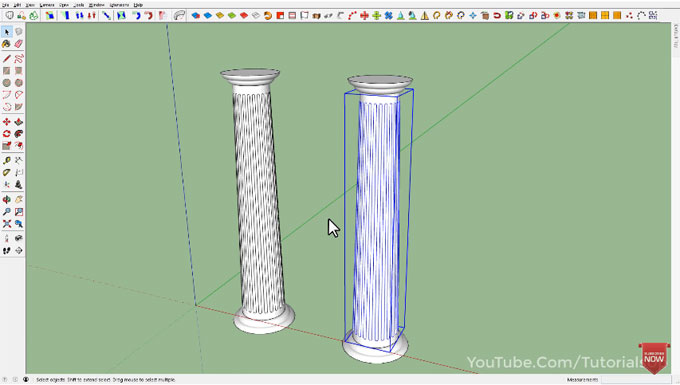 Tips to create column in sketchup quickly