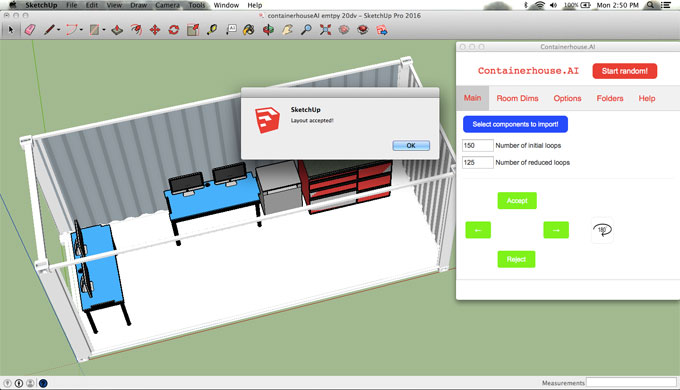 Containerhouse.AI – Container Interior Arrangement in SketchUp