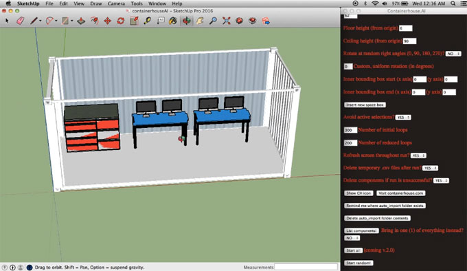 Containerhouse.AI- An Exclusive Extension and Component Importer For Sketchup