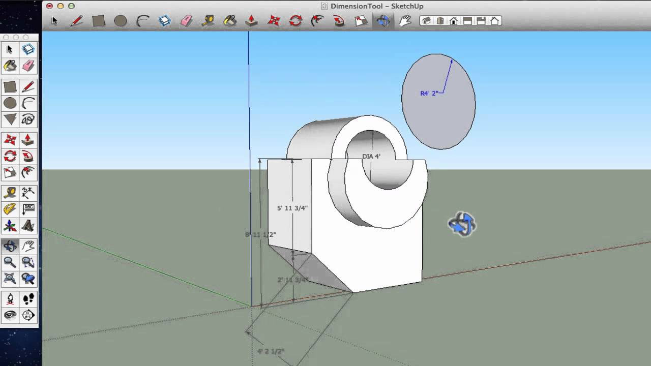 How to change a dimension string in sketchup