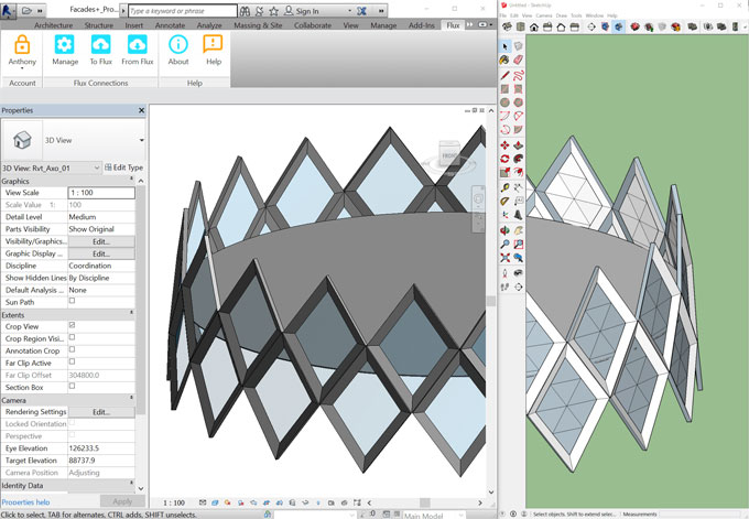 Flux – The newest sketchup extension